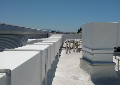 Rooftop HVAC Ducting
