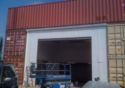Shipping Container Welding Shop Exterior